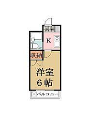 埼玉県草加市瀬崎2の賃貸マンションの間取り