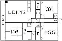 ロックフィールド[4階]の間取り