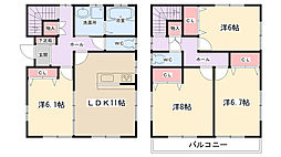 [一戸建] 東京都町田市忠生3丁目 の賃貸【東京都 / 町田市】の間取り