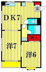第2涌井ビル[4階]の間取り