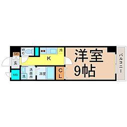 愛知県名古屋市西区菊井1の賃貸マンションの間取り