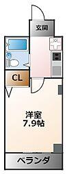 シャルマンフジ甲子園口壱番館[302号室]の間取り