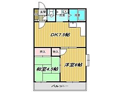 兵庫県神戸市垂水区霞ケ丘6丁目の賃貸マンションの間取り