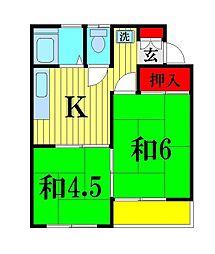 VANハイム[2階]の間取り