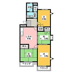 ルーミイ新屋敷[2階]の間取り