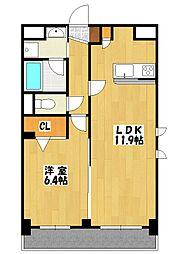 レフィナード八幡[5階]の間取り