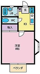 コートM[2階]の間取り