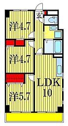 西船エーワンビル[8階]の間取り