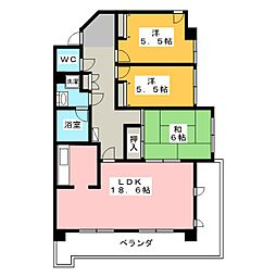 アトレ青山 605[6階]の間取り