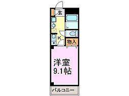 愛知県知多市にしの台2丁目の賃貸アパートの間取り