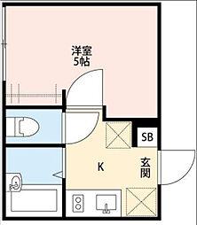 東京都世田谷区船橋3丁目の賃貸アパートの間取り