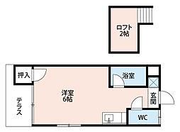 福岡県北九州市八幡西区日吉台3丁目の賃貸アパートの間取り