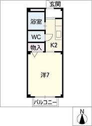 メゾンリビエール[2階]の間取り