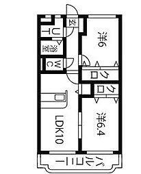 ユーミーEBINUMA[2階]の間取り