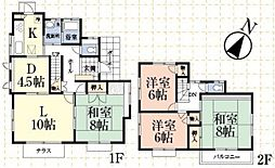 [一戸建] 千葉県市原市国分寺台中央7丁目 の賃貸【/】の間取り