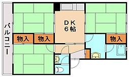 KS春日ハイツ[3階]の間取り