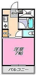 兵庫県神戸市灘区赤松町3丁目の賃貸マンションの間取り