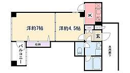 アブシンベル MI・4[5階]の間取り