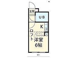 埼玉県上尾市二ツ宮の賃貸アパートの間取り