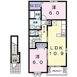 メリータイムI[2階]の間取り