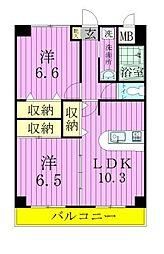 SAKURA AVENUE[6階]の間取り