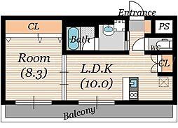 ララプレイス ザ・京橋ステラ[6階]の間取り