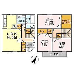 [テラスハウス] 青森県八戸市柏崎1丁目 の賃貸【/】の間取り