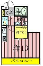 セレニティーホームズAB[3階]の間取り