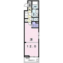 JR東海道本線 平塚駅 バス21分 西真土下車 徒歩4分の賃貸アパート 2階1Kの間取り
