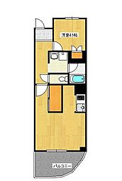 ノーブルハイツ[4階]の間取り