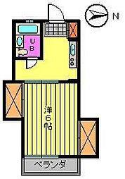 コーポ古賀 B棟 1階1Kの間取り