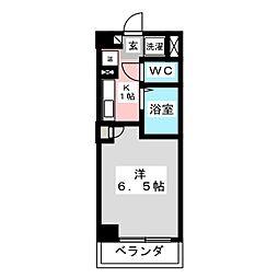 シンシア・シティ榴岡[7階]の間取り