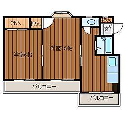 上鶴間岩波ビル[3階]の間取り
