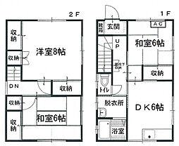 [一戸建] 香川県観音寺市本大町 の賃貸【/】の間取り