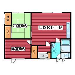 [タウンハウス] 北海道札幌市豊平区月寒東三条19丁目 の賃貸【/】の間取り