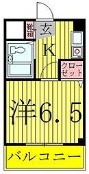ブランシュ天王台[208号室]の間取り