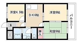 愛知県名古屋市緑区滝ノ水2丁目の賃貸マンションの間取り