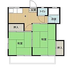 第二石福荘[3号室]の間取り