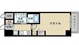 エステムコート新大阪リンクス 6階1Kの間取り