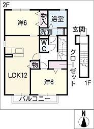 コージーコートB棟[2階]の間取り