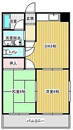 兵庫県神戸市西区森友5丁目の賃貸マンションの間取り