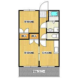 エステートフクヨPart1[1階]の間取り