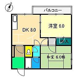 メゾン音三郎[2階]の間取り