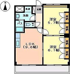 ラ・ヴィータ高取北II[1階]の間取り