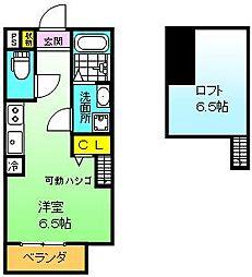 大阪府堺市堺区寺地町東3丁の賃貸アパートの間取り