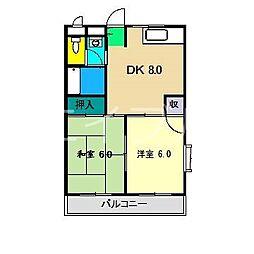 レジデンス優美36[3階]の間取り