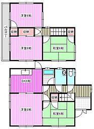 [一戸建] 奈良県大和郡山市千日町 の賃貸【/】の間取り