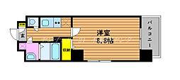 JR山陽本線 岡山駅 徒歩11分の賃貸マンション 9階1Kの間取り
