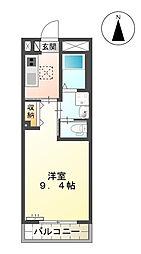 (仮)西町マンション[202号室]の間取り