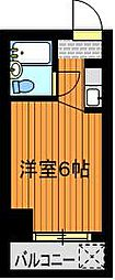 ドール豊[4階]の間取り
